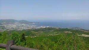 毛無山展望所から小樽への風景
